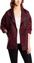 Deby Debo Women's Blouson Long sleeve Coat Red Rouge (Bordeaux)
