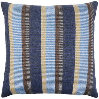The Piper Collection Arthur 22x22 Pillow - Indigo/Brown