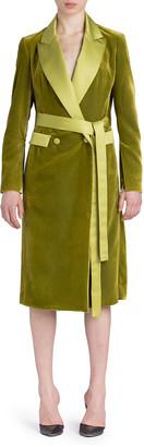 UNTTLD Double-Breasted Velvet Coat