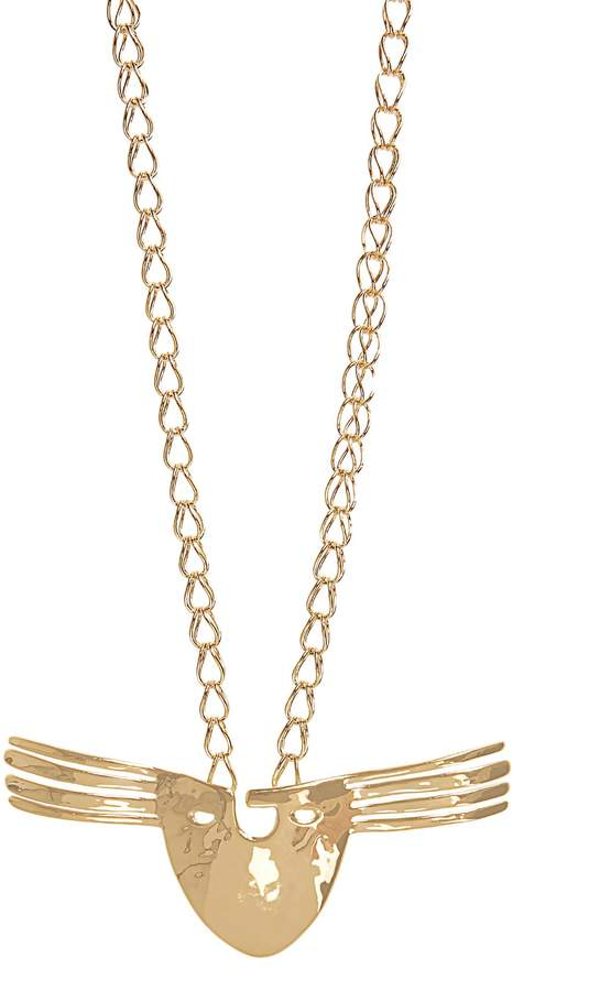 Aurelie Bidermann Melina Mask gold-plated necklace