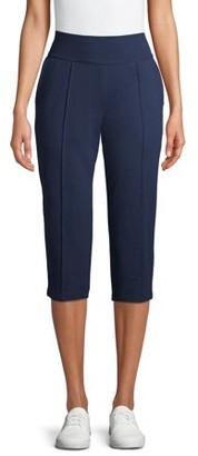 Time and Tru Women's Knit Pull On Capri Pants