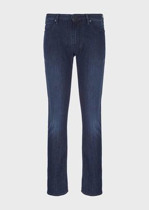 Emporio Armani Slim-Fit J06 Rinse Wash Comfort Denim Jeans