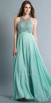 Dave and Johnny Halter Embellished Empire Prom Dress