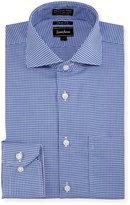 Neiman Marcus Trim-Fit Non-Iron Pinwheel Dress Shirt, Blue