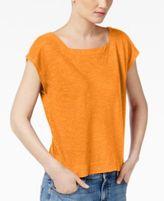 Eileen Fisher Organic Cotton-Blend Cropped Boxy Top, Regular & Petite