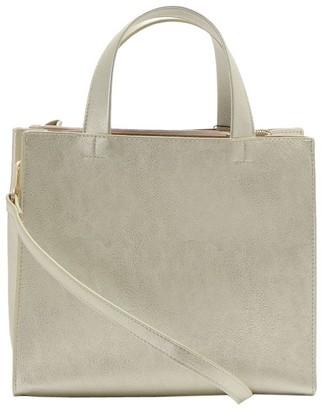 UN Billion Square Silhouette Handbag with a Crossbody Strap