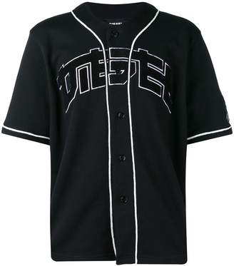 Diesel collarless baseball jersey
