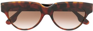 Victoria Beckham Small Bevelled Cat-Eye Sunglasses