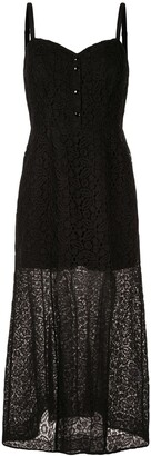 Olivier Theyskens Lace Maxi Dress