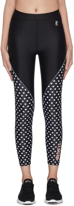 P.E Nation 'Dominion' star print panelled performance leggings