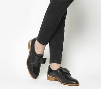 Office Flexa Slip On Bow Flats Black With Gold Heel