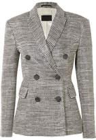 By Malene Birger Zozima Double-breasted Cotton-blend Tweed Blazer - Gray