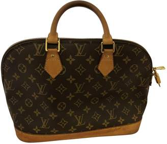 Louis Vuitton Alma Brown Leather Handbag