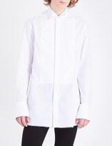 Burberry Star-trim regular-fit cotton-poplin shirt