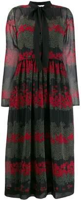 RED Valentino floral print midi dress