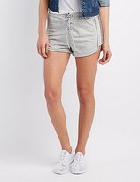 Charlotte Russe Lace-Up Drawstring Shorts