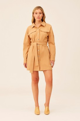 The Fifth BACKTRACK LONG SLEEVE DRESS Tan
