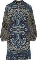 Etro Printed wool-crepe dress