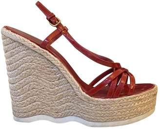 Saint Laurent Red Patent leather Espadrilles