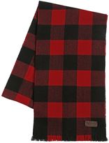 DSQUARED2 Check Wool Flannel Scarf