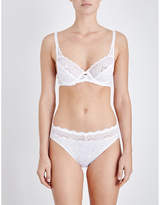 Triumph Amourette Spotlight lace and mesh underwired bra