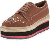 Prada Velvet Embellished Platform Sneaker