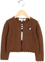 Tartine et Chocolat Girls' Scallop-Trimmed Long Sleeve Cardigan w/ Tags