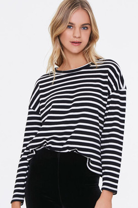 Forever 21 Striped Drop-Sleeve Top