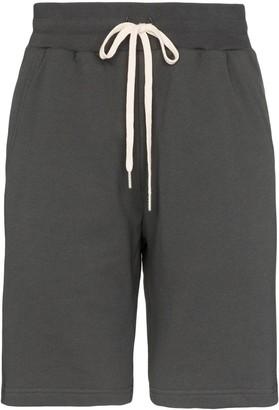 John Elliott Crimson cotton track shorts
