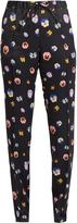 Christopher Kane Pansy-print slim-leg satin trousers