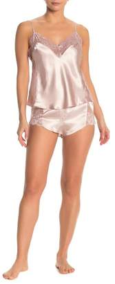 Jonquil In Bloom by Lace Trim Camisole & Shorts 2-Piece Pajama Set
