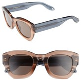 Givenchy Women's 48Mm Cat Eye Sunglasses - Beige