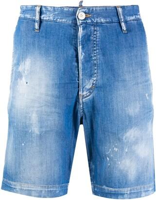DSQUARED2 Distressed Effect Denim Shorts
