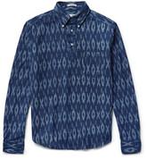 Gant Slim-Fit Half-Placket Collar Cotton-Jacquard Shirt
