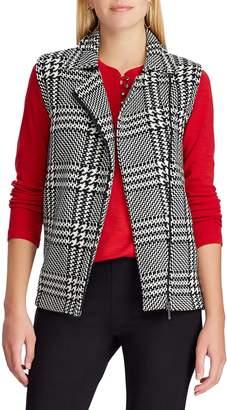 Chaps Petite Mitty Plaid Sleeveless Sweater