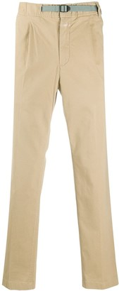 Closed Belted Stretch Cotton Trousers