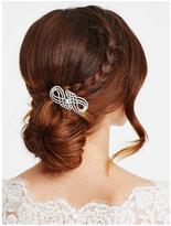 Jon Richard Silver Crystal Swirl Hair Comb