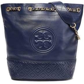 Tory Burch Quilted Logo-embellished Leather Shoulder Bag