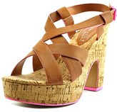 Very Volatile Piped Open Toe Leather Platform Sandal.