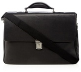 J By Jasper Conran Black Leather Briefcase