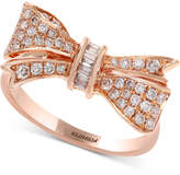 Effy Pavandeacute; Rose by EFFYandreg; Diamond Bow Ring (3/8 ct. t.w.) in 14k Rose Gold