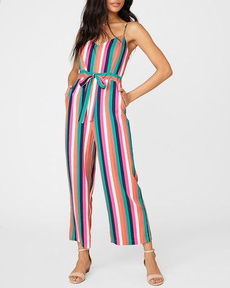 Express Flying Colors Striped Jumpsuit