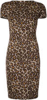 Rosetta Getty backless leopard print dress