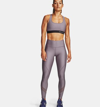 Under Armour Women's Armour Mid Crossback Heathered Sports Bra
