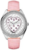 GUESS GUESS? Women's U85141L2 Pink Leather Quartz Watch with Dial