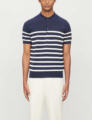 Brunello Cucinelli Stripe-print cotton polo shirt