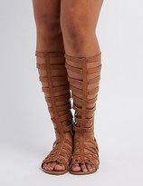 Charlotte Russe Wide Width & Calf Knee-High Gladiator Sandals