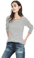 Banana Republic Long-Sleeve Cotton-Modal Stripe Crew