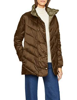 Scotch & Soda Maison Women's Quilted Longer Length Jacket with Asymmetric Quilting Jacket