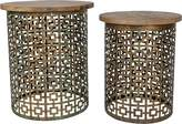 Casa Uno Laura Mango Wood Side Table (Set of 2)